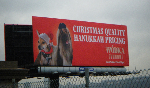 Vodka Billboard: 'Christmas Quality, Hanukkah Pricing'