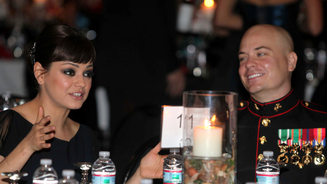 As Promised, Mila Kunis Hits Up Marine Ball
