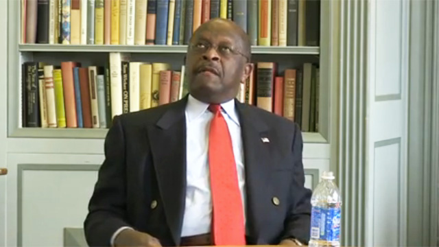 Libya Question Leads to Hot Herman Cain Brain Fart Action