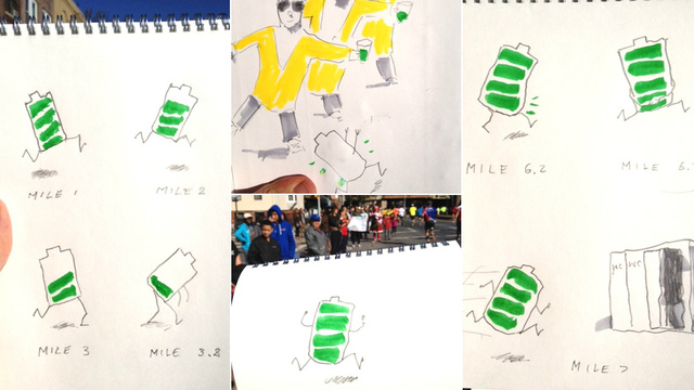 Guy Who Live-Sketched N.Y. Marathon While Running It Is Doubly Impressive