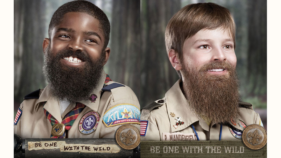 Even Boy Scouts Have Jumped on the Ironic Facial Hair Bandwagon