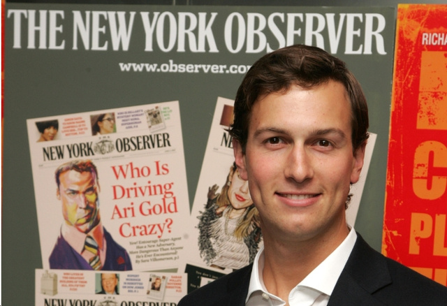 Jared Kushner Just Launching Any Old Paper Now