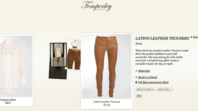 'Latino Leather Trousers' Are 'Dark Tan'