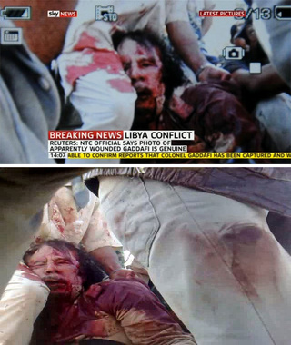 Gaddafi Is Definitely Dead, Judging from These Pictures