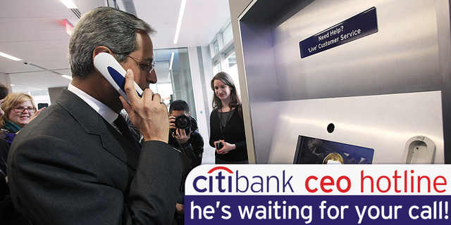 Want to Talk to the CEO of Citigroup? Here's His Cell Phone Number