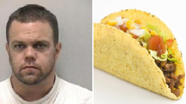 Man Won't Let Cops or Fires Stop Him From Eating His Taco Bell