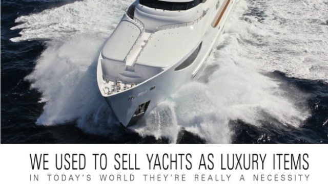 Ad: Personal Yacht 'a Necessity' in Today's Anti-Rich People World