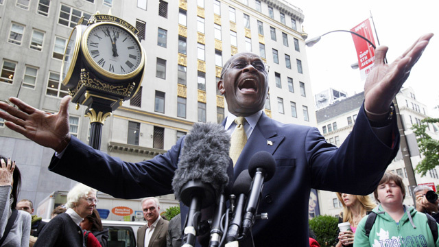 Herman Cain Celebrates Frontrunner Status by Leaving Campaign Trail