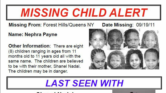 One Girl and Seven Boys Named 'Nephra Payne' Abducted from Foster Care
