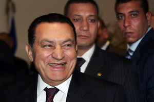 Sad Hosni Mubarak Tries a Crash Diet