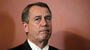 John Boehner Wishes He Was Somewhere Else Right Now