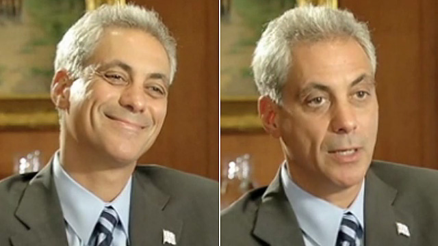Watch Rahm Emanuel Do His Famous 'Angry' Schtick