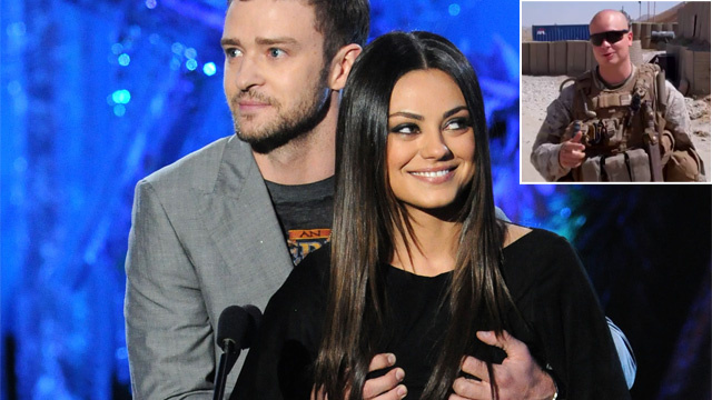 Mila Kunis' Marine Date: 'I Always Thought I Had a Chance'