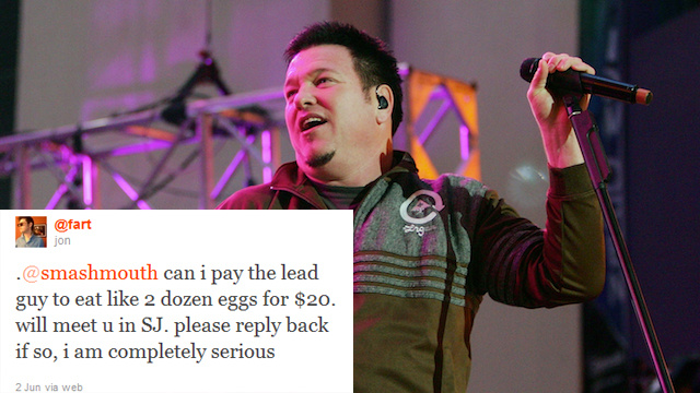 Washed Up Rocker Will Eat 24 Eggs Because the Internet Told Him To