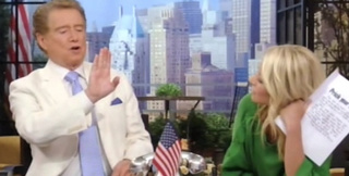 Kelly Ripa Is Speculating About the Size of Regis Philbin's Penis