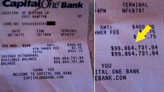 This $100 Million ATM Receipt Will Make You Hate Yourself