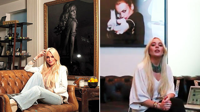 Lindsay Lohan's Home Decor: Two Giant Pictures of Herself