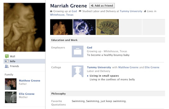 This Fetus Has a Facebook Page