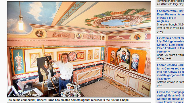 Guy Paints Sistine Chapel in Every Single Room of His House