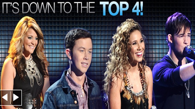 Live: American Idol's Top 4 Perform
