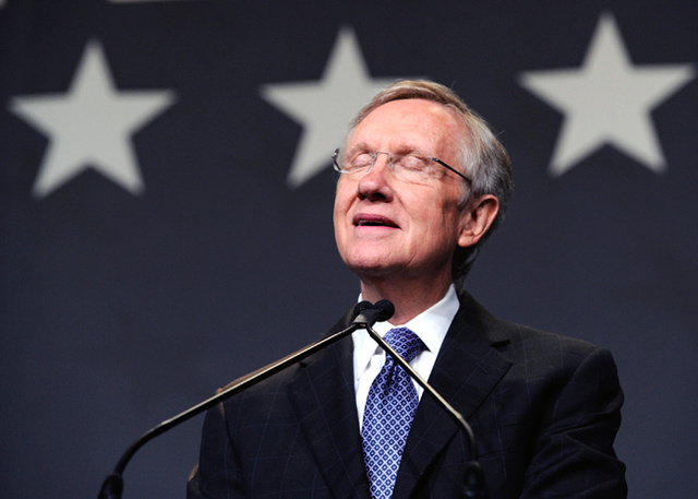 Harry Reid Dislocates His Shoulder