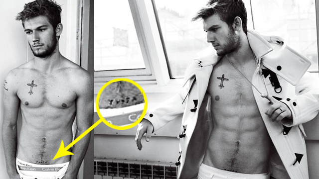 Here Is Alex Pettyfer's 'Thank You' Crotch Tattoo