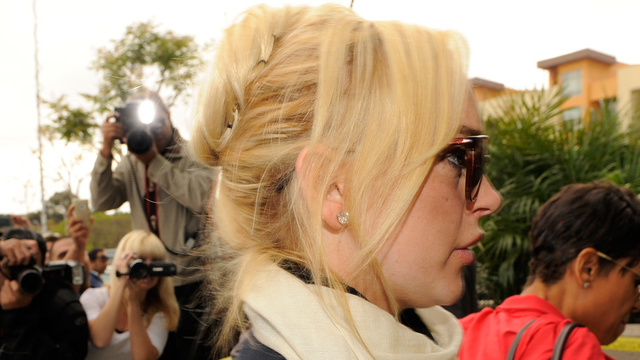 Lindsay Lohan Spends Five Hours in Jail