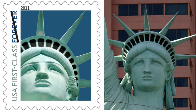 Post Office Uses Wrong Statue of Liberty for Stamp