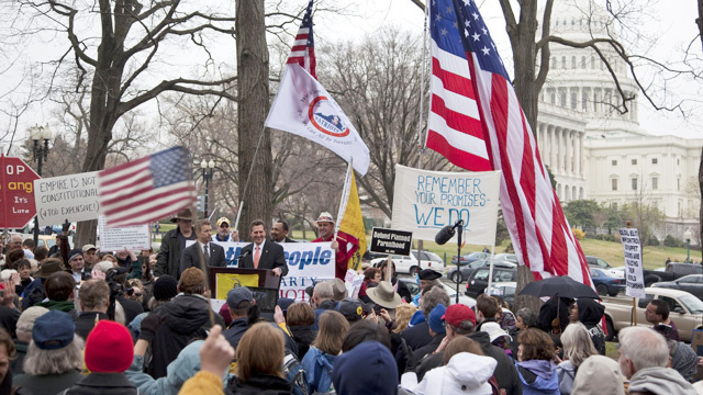 Crucial Capitol Hill Tea Party Rally Draws Few Attendees