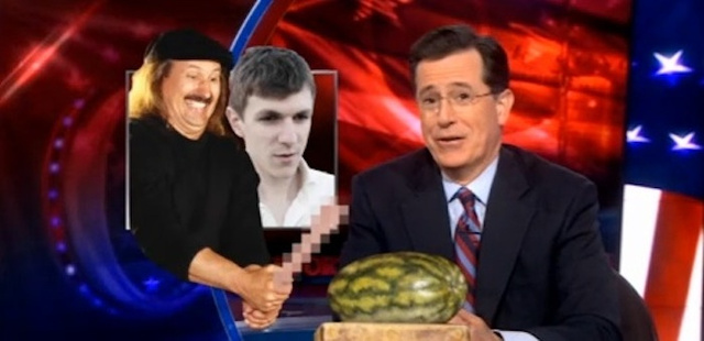 "Stephen Colbert Claims James O'Keefe Is ""Like Gallagher, but with More Dildos"""
