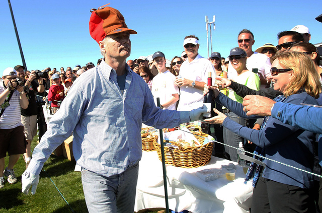 Bill Murray Hits the Links at Pebble Beach