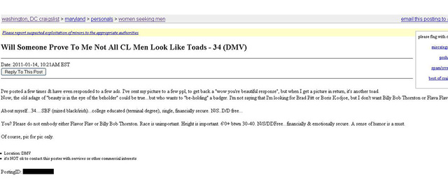 Craigslist ads under women seeking men