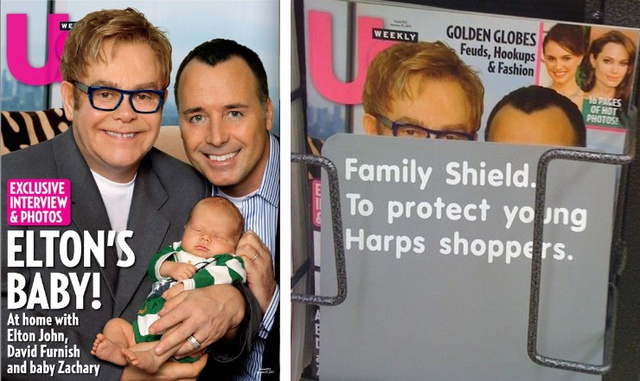 Arkansas Supermarket Covers Up Magazine with Photo of Gay Family