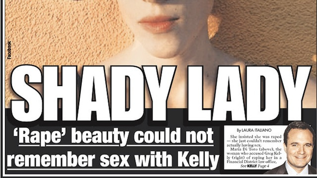 Classy New York Post Prosecutes Kelly Rape Accuser
