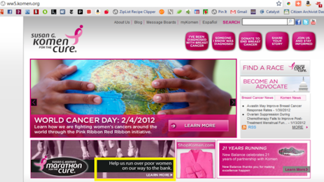 Righteous Pranksters Hack Komen Foundation's Website