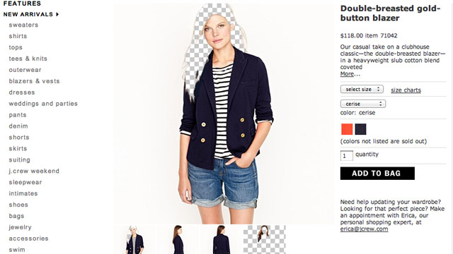 At J. Crew, the Model and the Hair are Sold Separately
