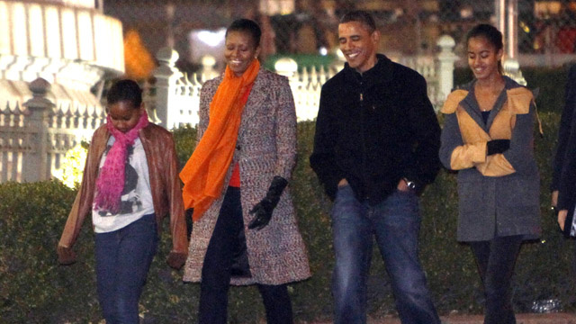 The Obamas Go on an Adorable Family Outing