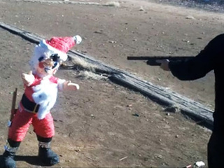 Crazy Christians Shoot Santa's Head Off