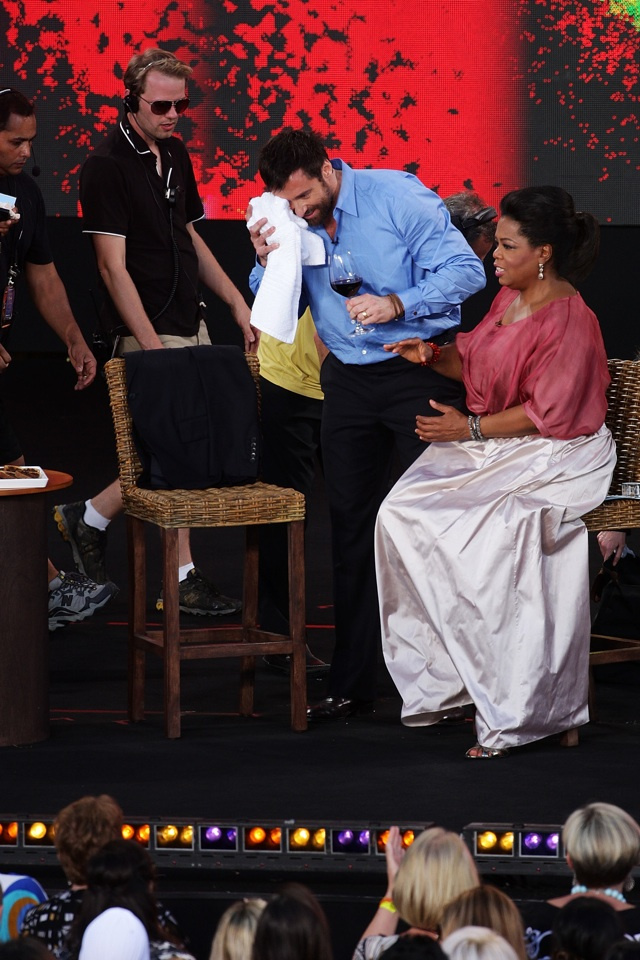 Oprah Winfrey Almost Took Hugh Jackman's Eye Out