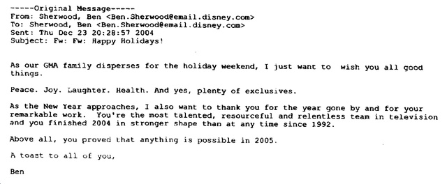 Ben Sherwood's Infamous Christmas Email Screw-Up