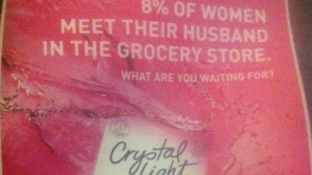 You Won't Meet Prince Charming at the Supermarket, No Matter What Crystal Light Says