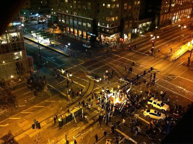 San Francisco World Series Rioters 'Checking In' to Riots on FourSquare