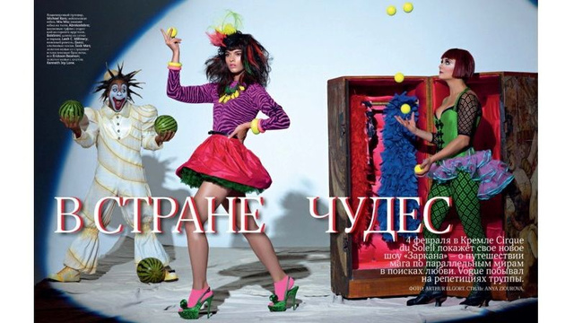 Crystal Renn Does The Splits In A New Cirque Du Soleil Editorial