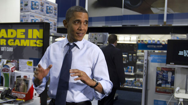 Obama Shops For Daughters' Christmas Gifts With Reporters In Tow