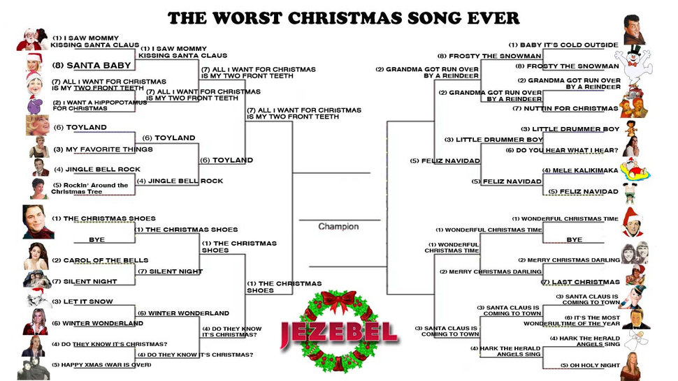 Worst Christmas Song Ever: Let's Narrow It Down To The Frightful Four