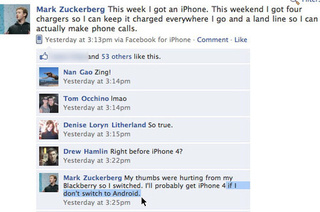 Mark Zuckerberg Joins iPhone Bitchfest