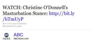 'Watch Christine O'Donnell's Masturbation Stance'