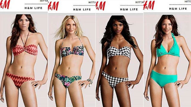 H&M Puts Real Model Heads On Fake Bodies
