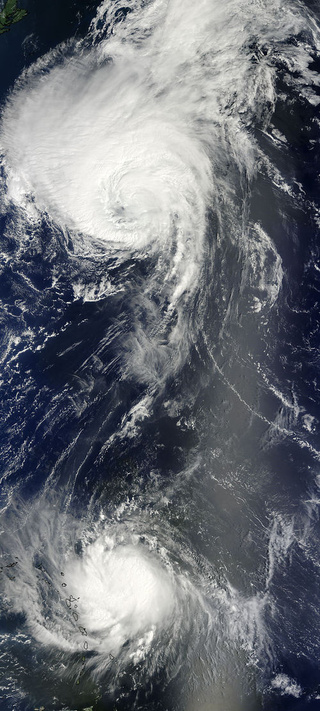 This Is What Two Hurricanes Look Like from Space