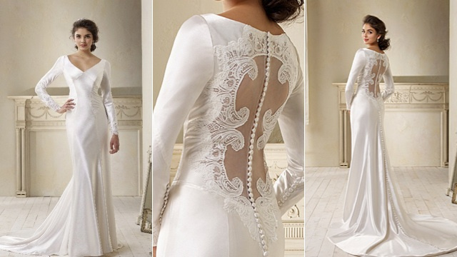 fashion arrivals christian wedding dresses with back neck